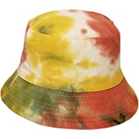 FORLADY Tie-Dye Cotton Bucket cap Reversible Bucket Hat Pieghevole Protezione Solare Uomo Donna