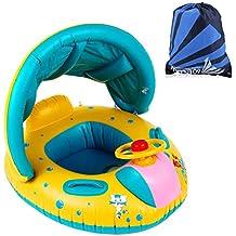 Bouée Bébé Fochea Flotteur Gonflable avec Sac de rangement pour Enfant de 7 Mois - 4 Ans Moins de 20Kg pour Piscine Plage Maison
