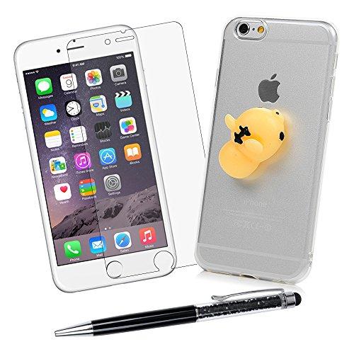 """iPhone 6 Plus /6S Plus Silikon Hülle YOKIRIN Crystal Clear Case Cover für iPhone 6 Plus /6S Plus (5.5"""") Silikonhülle 3D Weiche Silikon Cartoon Figer Pinch Dekompressions Spielzeug Case Transparent TPU Kleiner tiger"""
