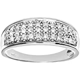 Naava 9ct Quarter Carat Diamond Multi Row Eternity Ring