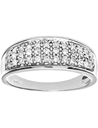 Naava 9ct Gold Quarter Carat Diamond Multi Row Eternity Ring