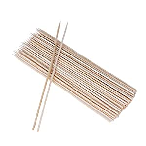 La Cabina Outdoor Camping Pique-nique BBQ Barbecue Outil Kabobs Alimentation 100 pcs (20cm))