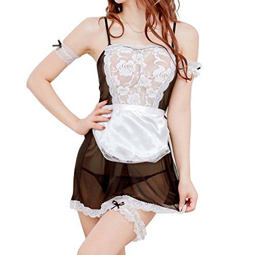 Babysbreath Frauen Lace Lingerie Kostüm Sex Unterwäsche Sheer Nachtwäsche Nightgown Cospiay (Kostüme Show Regelmäßige)