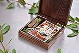 Holz Box (ohne USB), Print & USB Flash Drive Box Personalisieren Flash Drive Box Geschenk, Hochzeit Box Proof Box für Fotografie, Foto Box With Moss Dark