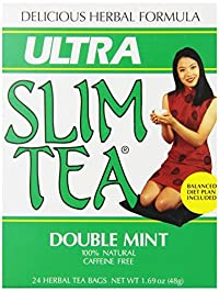Ultra Slim Tea, Double Mint, Tea Bags, 24 Count Box