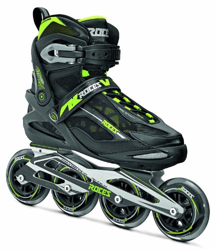 Roces Xenon Pattino Inline Uomo, Nero Verde, 41