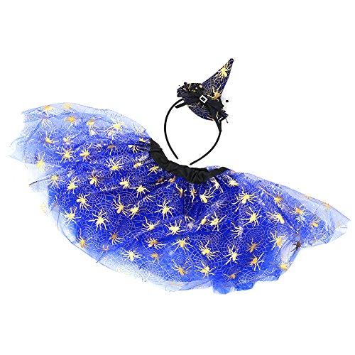 Per Halloween Masquerade Rock Hut Set Tutu & Headwear Träume Halloween Kostüme für Mädchen (Kinder Vorhanden Kostüm Für)