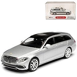 Wiking Mercedes-Benz E-Klasse S213 Exclusive Kombi T-Modell Iridium Silber Metallic H0 1/87 Modell Auto