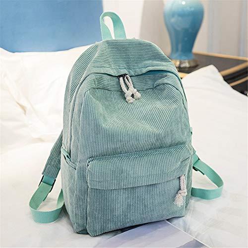 Street Cord (Einfacher Street-Trend-Rucksack aus lässigem Cord mit großem Fassungsvermögen, hellgrün, 20-35 l)
