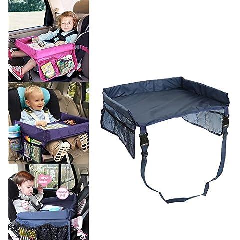 Auto Tavolino per bambini impermeabile regolabile cintura di sicurezza da disegno da viaggio Buggy Passeggino per bambini auto Vassoi con tasche