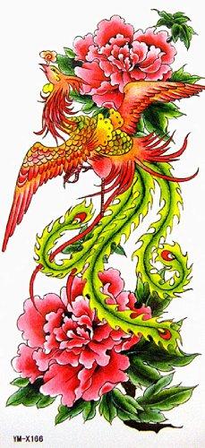 YiMei temporary tattoos waterproof sexy phoenix flowers Beauty influx of goods by Yimei