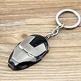 Farraige Iron Man Face Marvel Avengers Superhero Civil War Character Collectible Metal Keychain(Black)
