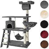 TecTake Rascador para gatos Árbol para gatos Sisal Juguetes 141 cm - disponible en diferentes colores - (gris   no. 401853)