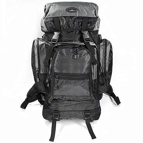 60 litres sac à dos trekking dans 4 coloris élégants, gris