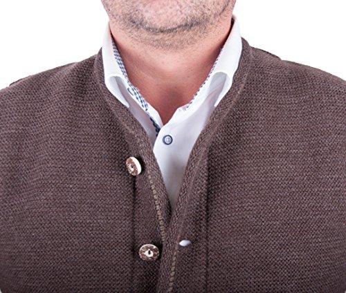 Almwerk Herren Trachten Strick Jacke Modell Xaver, Farbe:Braun;Größe:54 - 4