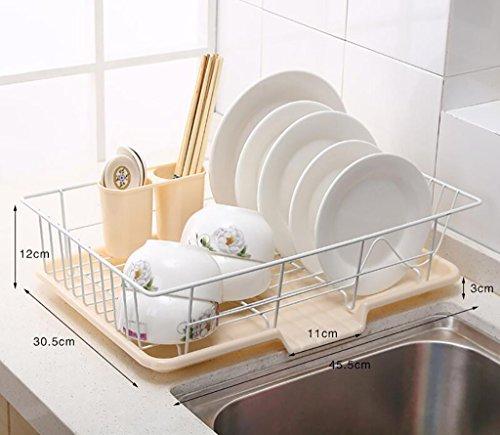 étagère de rangement Rack bol en acier inoxydable / rack Cuisine / Matériel de Cuisine Étagère d'armoire ( Couleur : 1# )