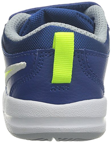 Nikepico 4 (tdv) - Chaussures Unisexes First Steps Pour Enfants Azul / Green / Gris (gym Blue / Volt-wolf Grey)