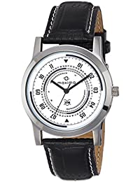 Maxima Analog White Dial Men's Watch-44675LMGI
