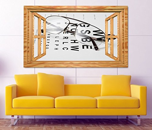 3D Wandtattoo Arzt Auge Augenarzt Brille Test Beruf selbstklebend Wandbild sticker Wohnzimmer Wand Aufkleber 11K912, Wandbild Größe F:ca. 97cmx57cm