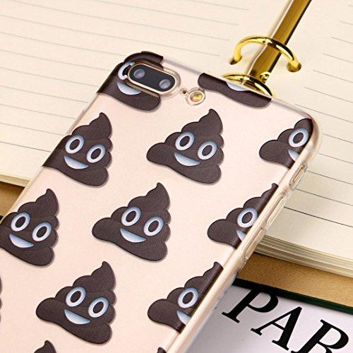 Für Iphone 7 Plus hülle Jamicy® Emoji Extra dünn Fallschutz Objektivschutz Rutschfest Schutzhülle Weiches Silikon handyhülle Telefonschale Für Iphone 7 Plus 5.5'' (I) N