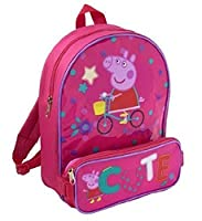 Peppa Pig Backpack School Bag with Removable Front Pocket