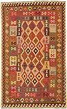 Carpetfine: Kelim Afghan Teppich 177x290 Multicolor - Geometrisch