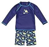 Landora: Baby- / Kleinkinder-Badebekleidung langärmliges 2er Set mit UV-Schutz 50+ und Oeko-Tex 100 Zertifizierung in türkis
