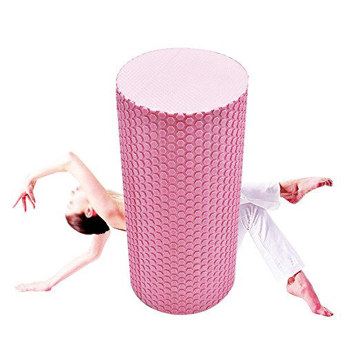 Denshine Massagerolle Yoga-Rolle Pilates-Rolle Schaumstoff-Rolle Foam-Roller Pink 30cm x 15cm