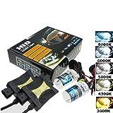 Xenon HID Kit,Auto Scheinwerfer Nebel Lampe 55 W Xenon HID-Vorschaltgerät Kit H1 H7 H4-H/L H4-3 9004 881 (4300K, H1)