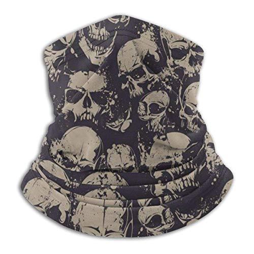 Zcfhike skull grunge spaventoso skulls death face unisex outdoor headwear fleece scaldacollo confortevole scaldacollo scaldacollo maschera invernale sciarpa per il freddo inverno sport all'aperto