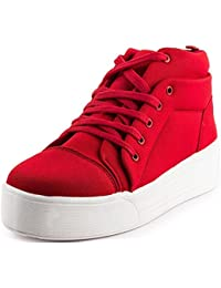 Maddy New Red Heel Sneaker Shoes For Women In Various Sizes