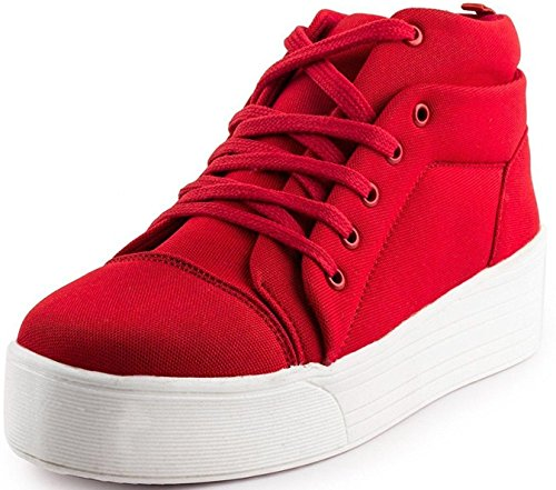Maddy New Red Heel Sneaker Shoes for Women in Various Sizes (38EU)
