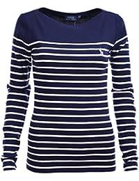 dadb2ac5011de4 Ralph Lauren Polo Damen Longsleeve Shirt Langarm Dunkelblau Gestreift Größe  XS