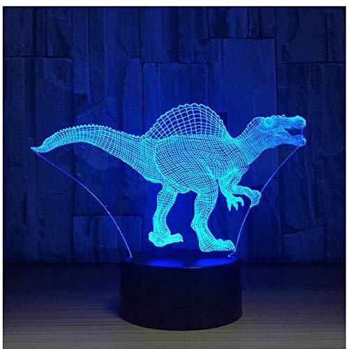 Day Deal Dinosaur LED Lamp USB 3D Lampada 7 colori Touch Sensor Camera da letto Luci Decorazione dell'atmosfera Illuminazione Novità Novità