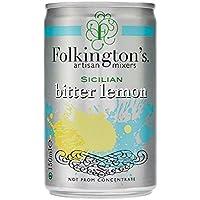 Folkingtons Bitter Lemon - Juego de mini latas (3 x 8 x 150 ml)