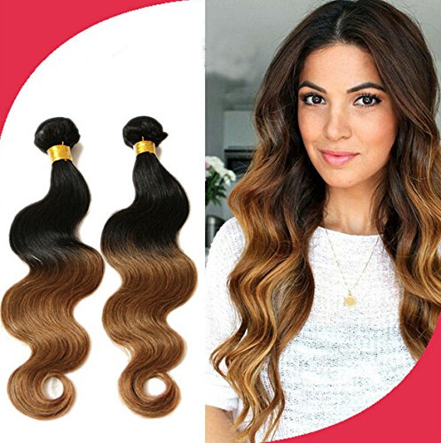 Meilleures ventes! Tissage Bresiliens Ondules Body Waves-Cheveux Vierges 14\\
