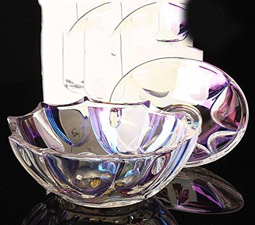 Vaso di dado trasparente caramelle/ ciotola di zucchero di deposito di diamante/ frutta/Vaso di snack/ Vaso di vetro di cristallo-C