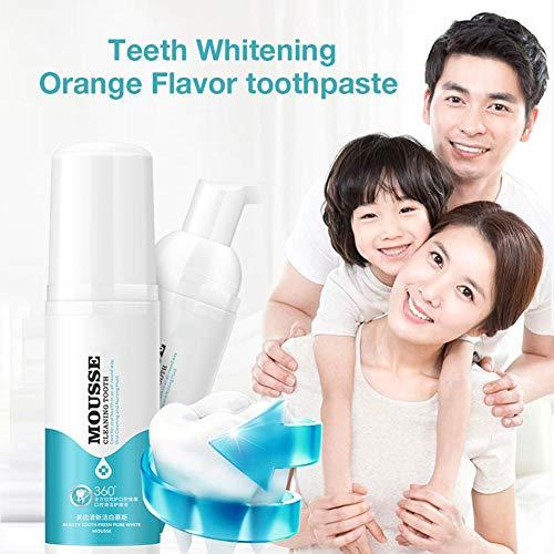 Cherishly Zahnschaum Reinigung Zähne Frischer Atem Zahnaufhellung Entfernen Mundgeruch Reiniger Orangengeschmack Mund calm -