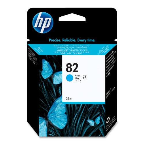 HP 82 Cartouche d'encre d'origine 1 x cyan