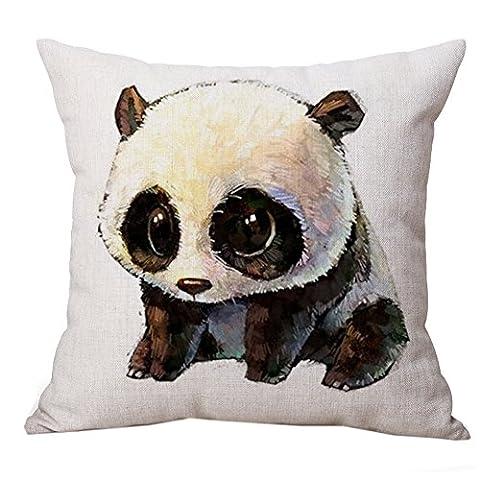 warmlife-cartoon Panda Motif carré Couvre-lit en coton taie d