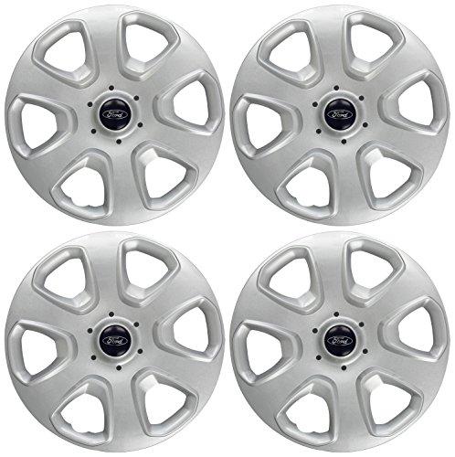 Ford 1748782 Wheel Trims Covers/ Hub Caps, 14-inch - silver/Black