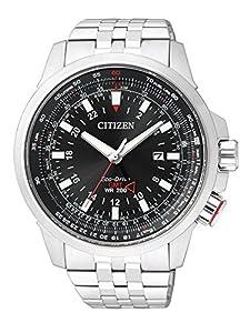 Citizen Promaster Sky BJ7070-57E - Reloj para hombres, correa de acero inoxidable color plateado de Citizen