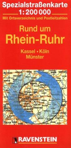 Rund um Rhein-Ruhr: Kassel, Köln, Münster. Spezialstrassenkarte mit Ortsverzeichnis. 1:20000