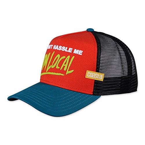 COASTAL - Hassle Me (red) - Trucker Cap Meshcap Kappe Mütze Cappy Caps