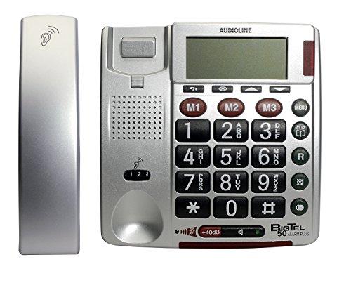 Audioline – Audioline BIGTEL 50 Alarm Plus – Telefon mit Schnur – Silber - 2