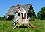 Kinderspielhaus mit Fenstern, Leiter, Rutsche (Wendi Toys) - 5