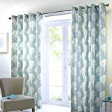 Best Home Fashion Blackout Curtains 100s - Fusion - Woodland Trees - 100% Cotton Lined Review