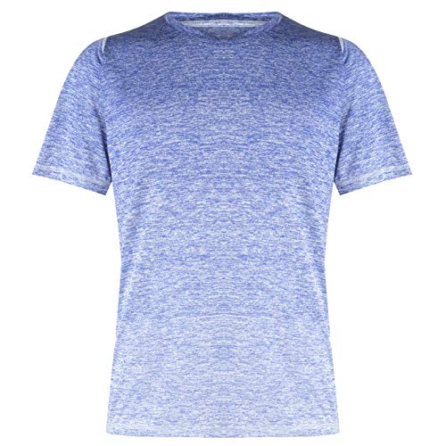 Adidas Climalite Short Sleeve Tee (adidas Freelift_360 Gradient Graphic Tee T-Shirt (Short Sleeve), Herren M blau (Active Blue))