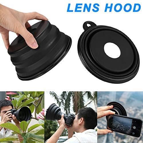 Flexible Teleskop-Gegenlichtblende zum Entfernen von Blendungen bei Tag und Reflexionen bei Nacht aus Silikon für die Kamera Fotografieren im Freien liefert (for Camera) Camera Lens Hood