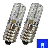 2 pezzi. Lampadina a LED E14 da 1,5 Watt, luce blu per frigorifero/lampade ecc. Lampadina di ricambio per lampadina per frigorifero E14/SES, E14, 1.00W, 230.00V